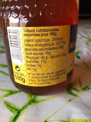 Miel de Provence - Informations nutritionnelles - fr