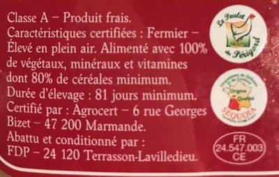 Poulet du Perigord - Ingredients - fr