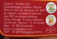 Filet de poulet jaune fermier Label Rouge - Ingredienti - fr