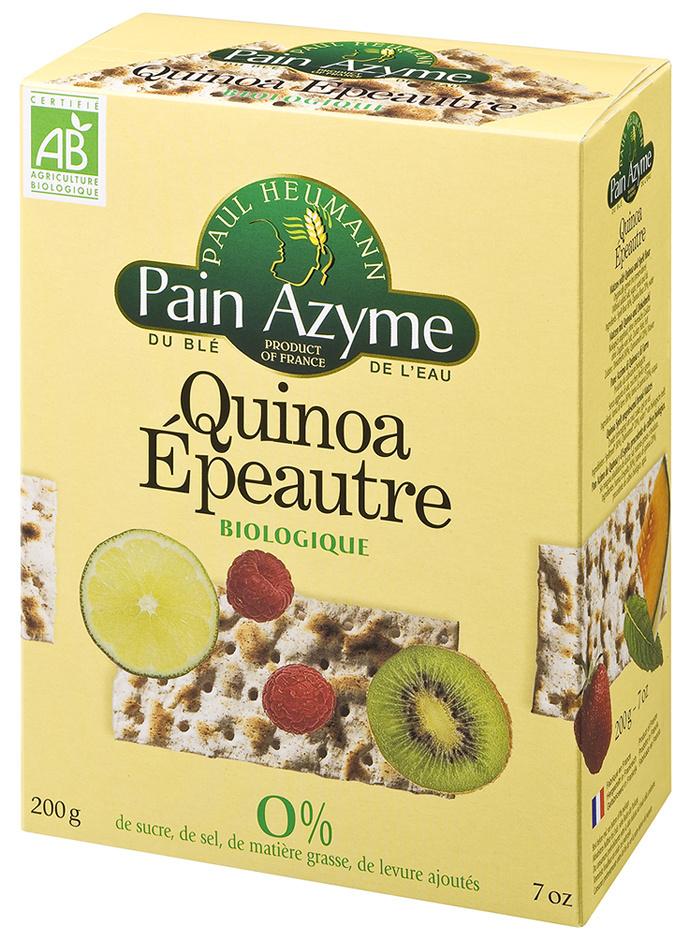 Pain Azyme Quinoa Epeautre biologique Paul Heumann - Product - fr