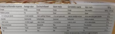 Pain Azyme Froment Paul Heumann - Informations nutritionnelles - fr