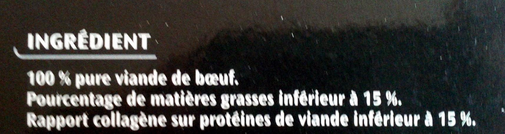 Le Pur Bœuf - Ingrediënten