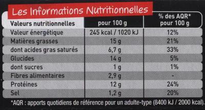 Grillettes Veau - Informations nutritionnelles - fr