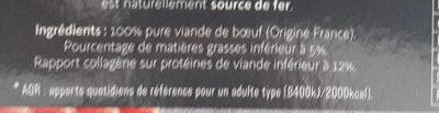 Le Pur Bœuf 5% de M.G. - Ingrédients - fr