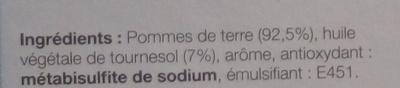 Pommes de terre en lamelles à rissoler - Ingredients