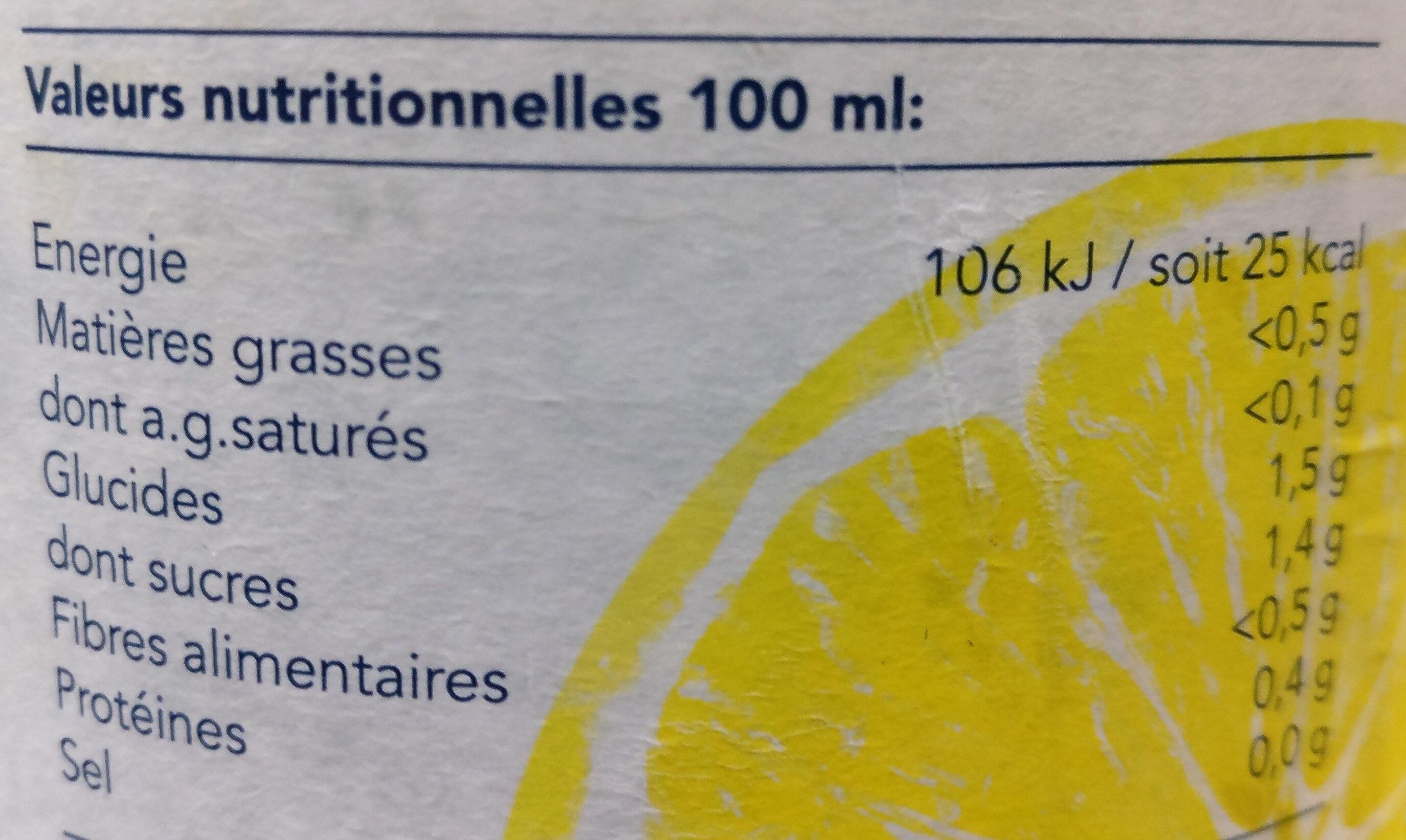 Sicilia jaune - Voedingswaarden - fr