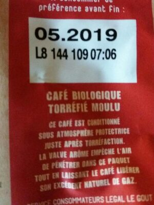 Café Ouganda Ethiopie - Valori nutrizionali - fr