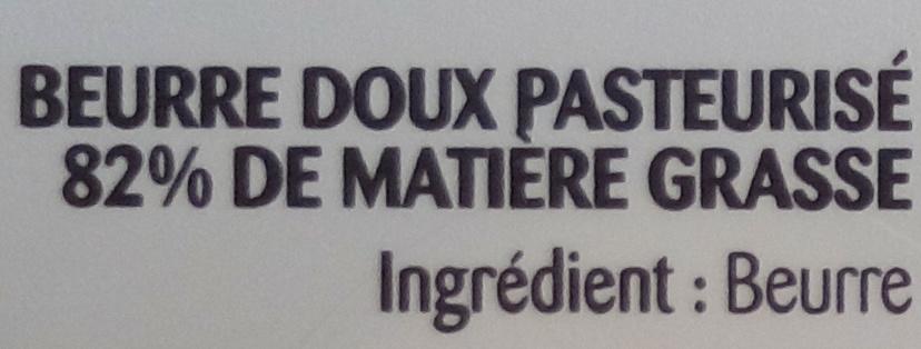 Beurre gastronomique doux - Ingredients