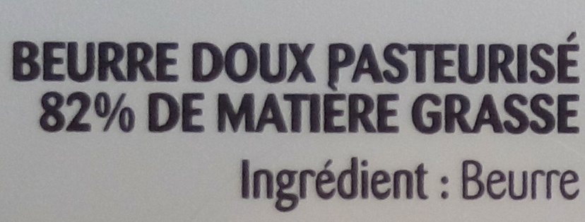 Beurre gastronomique doux - Ingrediënten