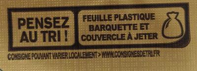 Beurre gastronomique demi-sel - Instruction de recyclage et/ou informations d'emballage