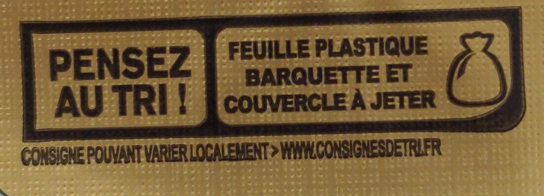 Beurre gastronomique demi-sel - Instruction de recyclage et/ou informations d'emballage - fr