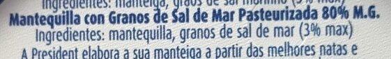Meer Salz Butter - Ingredientes - es