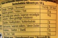 Crème de camembert à tartiner - Informazioni nutrizionali - fr
