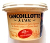 Cancoillotte à l'Ail (9 % MG) - Product