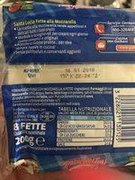 Fette alla Mozzarella - 8 tranches - Ingrediënten