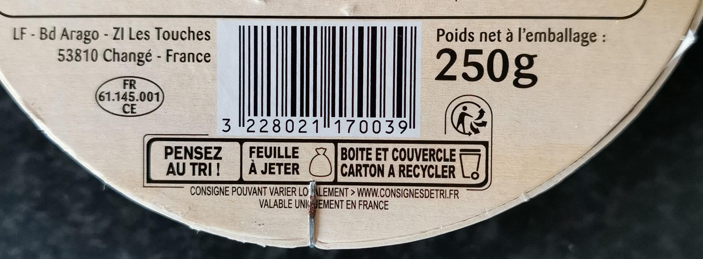 Camembert - Recyclinginstructies en / of verpakkingsinformatie - fr