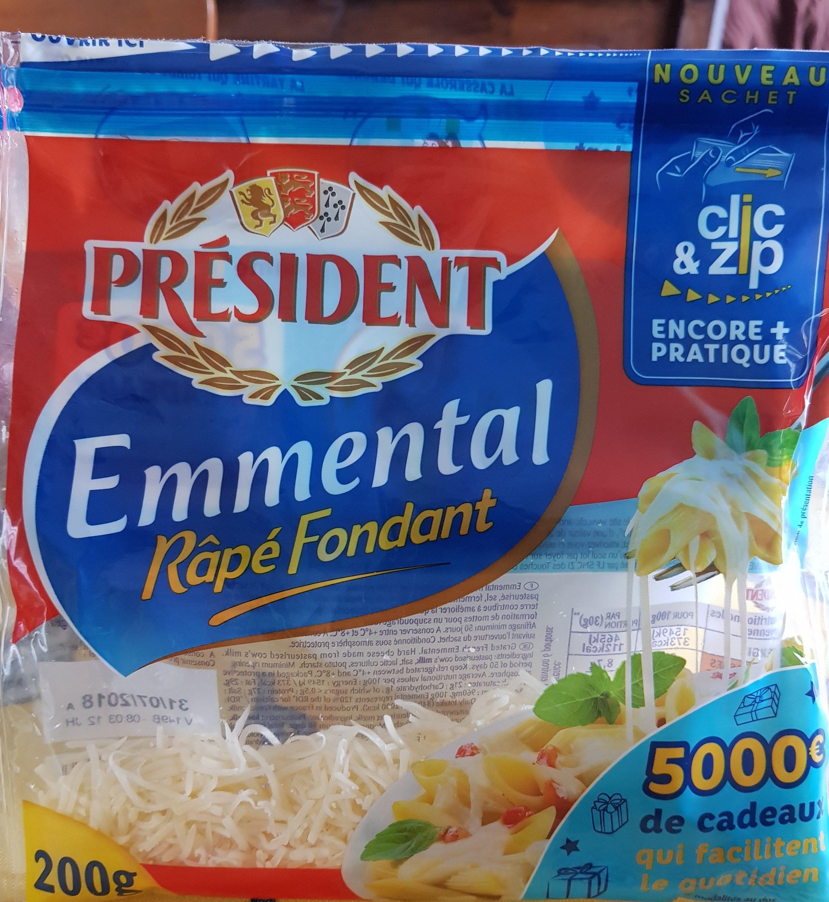Emmental Râpé Fondant - Produit - fr