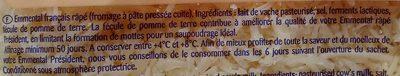 Emmental Râpé Fondant - Ingredients - fr