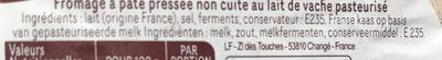 Fromage - Ingredients - fr