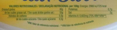 Beurre tendre demi-sel - Información nutricional