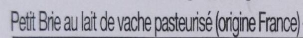 Petit Brie Président - Ingrédients - fr