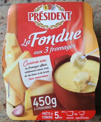 La fondue aux 3 fromages - Product