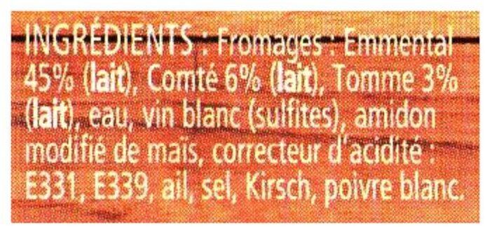 La fondue aux 3 fromages - Ingrediënten - fr