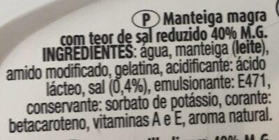 Manteiga magra - Ingredientes - pt