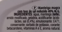 manteiga magra - Ingredientes - pt