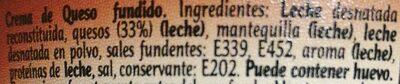 Crema SemiCurado - Ingredientes - es