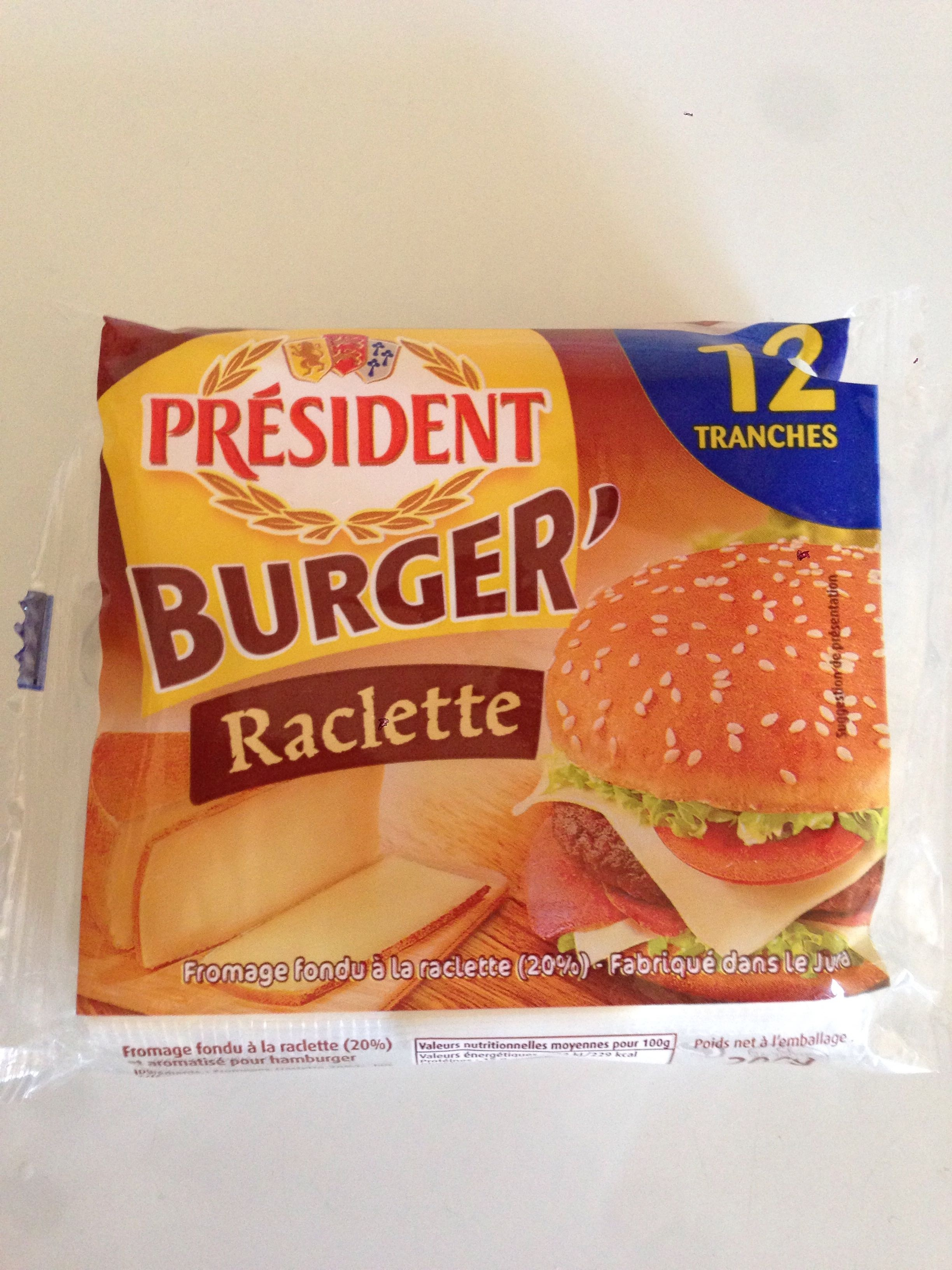 Burger' Raclette 12 Tranches (17 % MG) - Product - fr