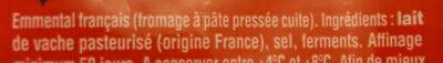 Emmental coeur de meule - Ingrediënten - fr