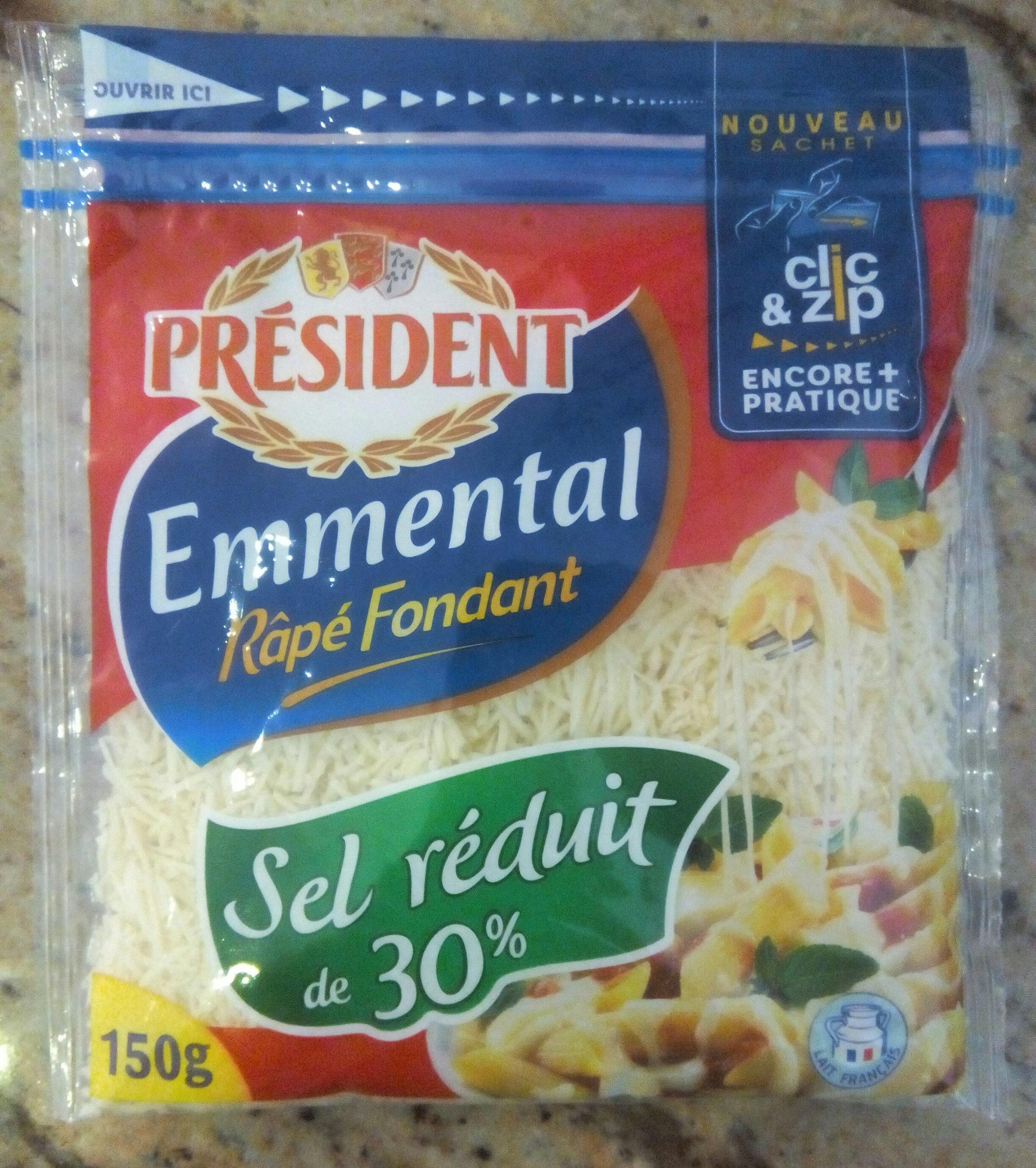 Emmental Râpé Fondant (28 % MG) - Produit