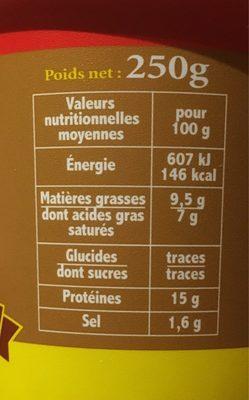 Cancoillotte noix - Nutrition facts