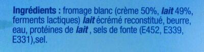 Vache grosjean - Ingrédients - fr