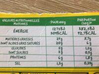RONDELE CITRON GIVRE - Informations nutritionnelles - fr