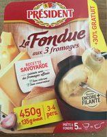Fondue aux trois fromages - Product