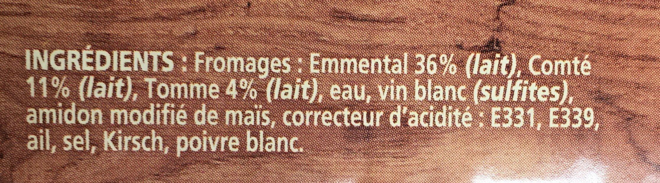 Fondue aux trois fromages - Ingredients