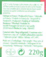 Comté Le Montarlier Affiné 6 mois - Ingredients