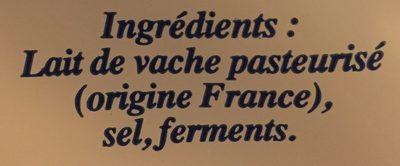 Petit brie - Ingredients