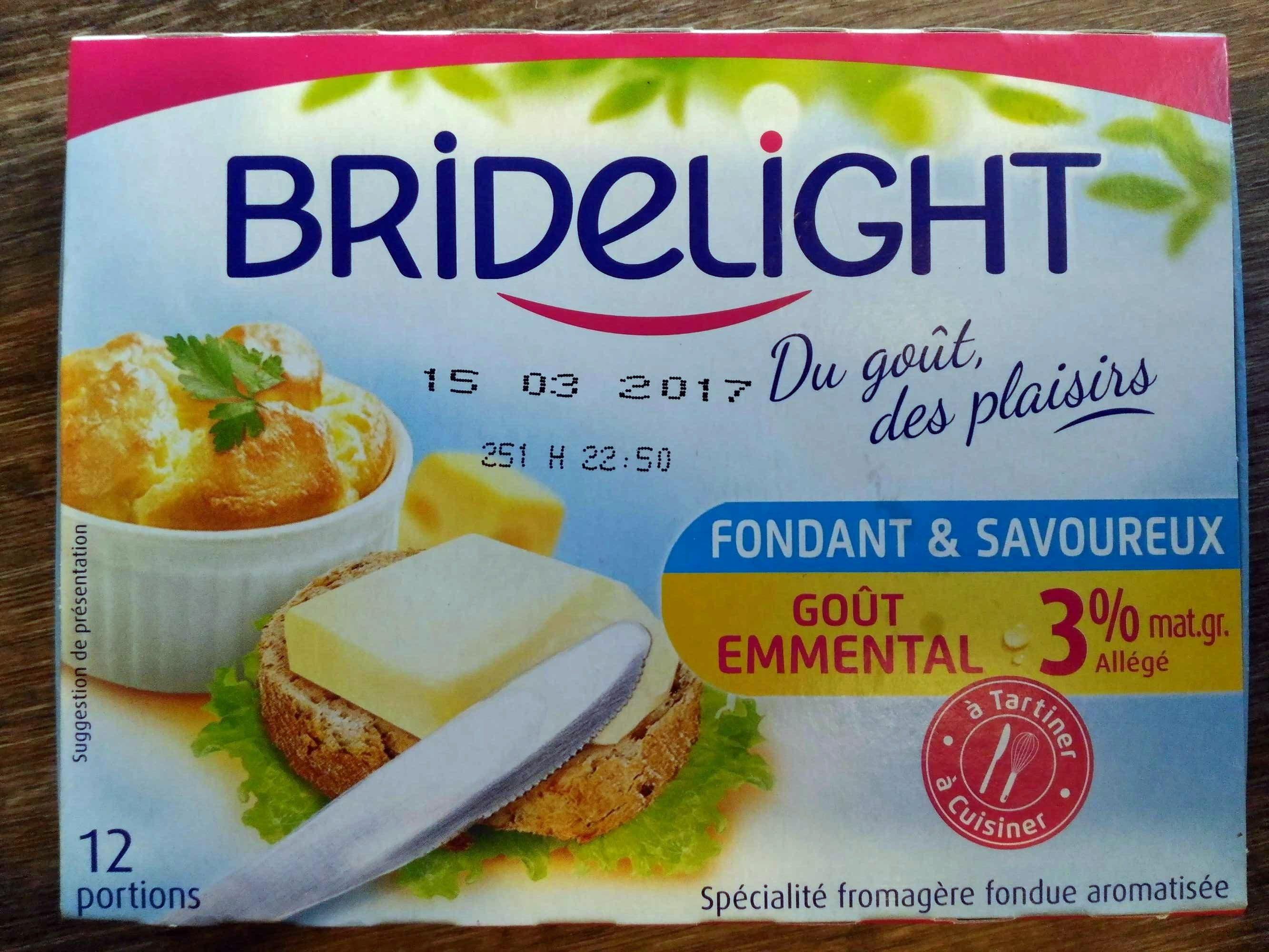Bridelight 3% Les carrés fondants goût Emmental - Product