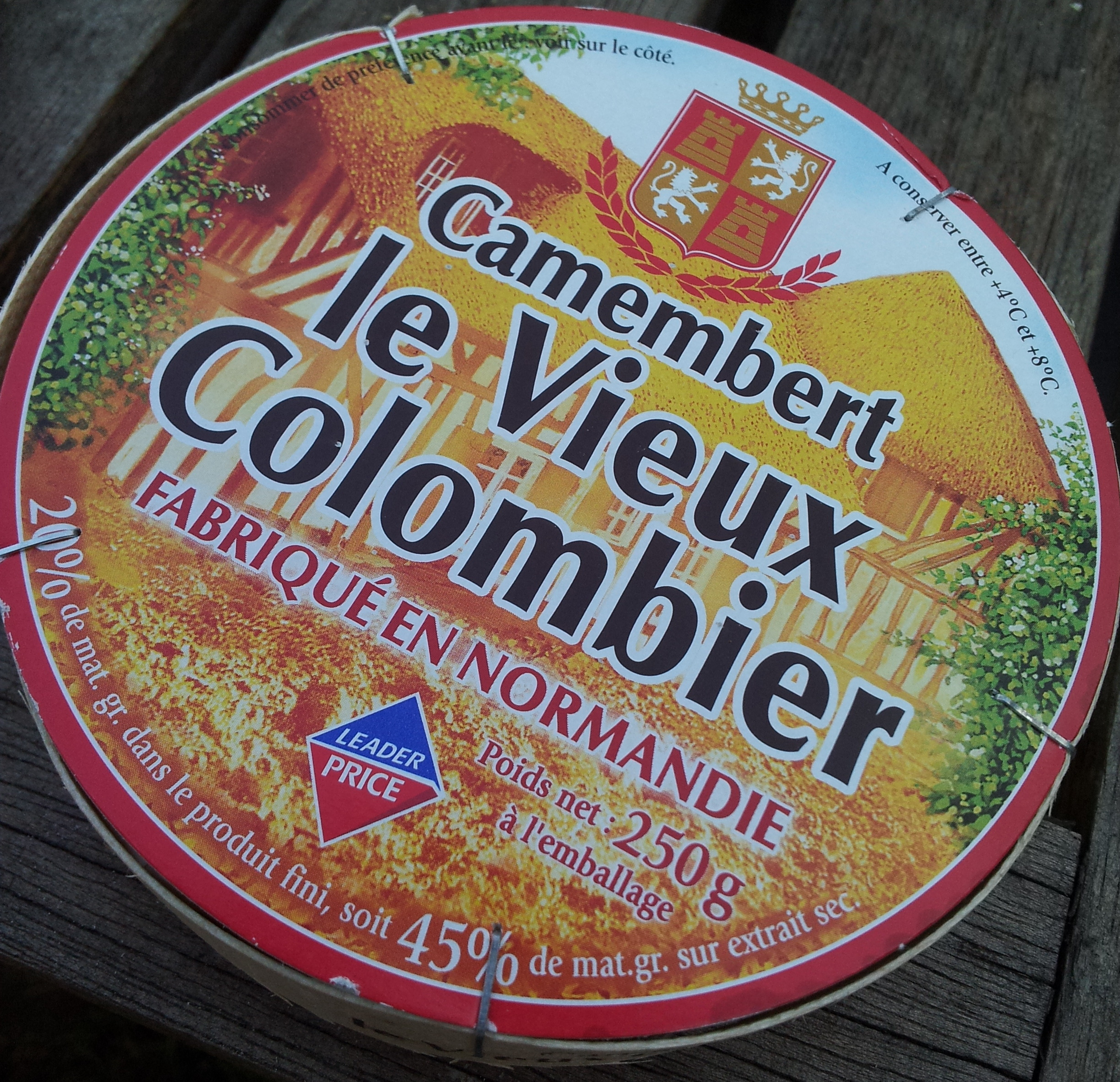 Camembert, le Vieux Colombier (20 % MG) - Product - fr