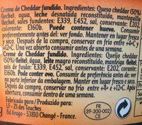 Crema Cheddar - Ingredients
