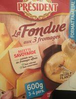 La Fondue aux 3 fromages - Produit - fr