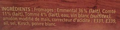 La Fondue aux 3 fromages - Ingrédients - fr