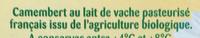 Camembert (21 % MG) - Ingrediënten