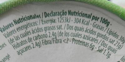 RONDELÉ Mousse de Quesso - Información nutricional