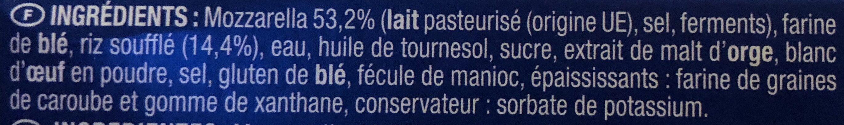 Croccante alla mozzarella - Ingrediënten - fr