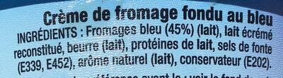 La crème au bleu - Ingredients - fr