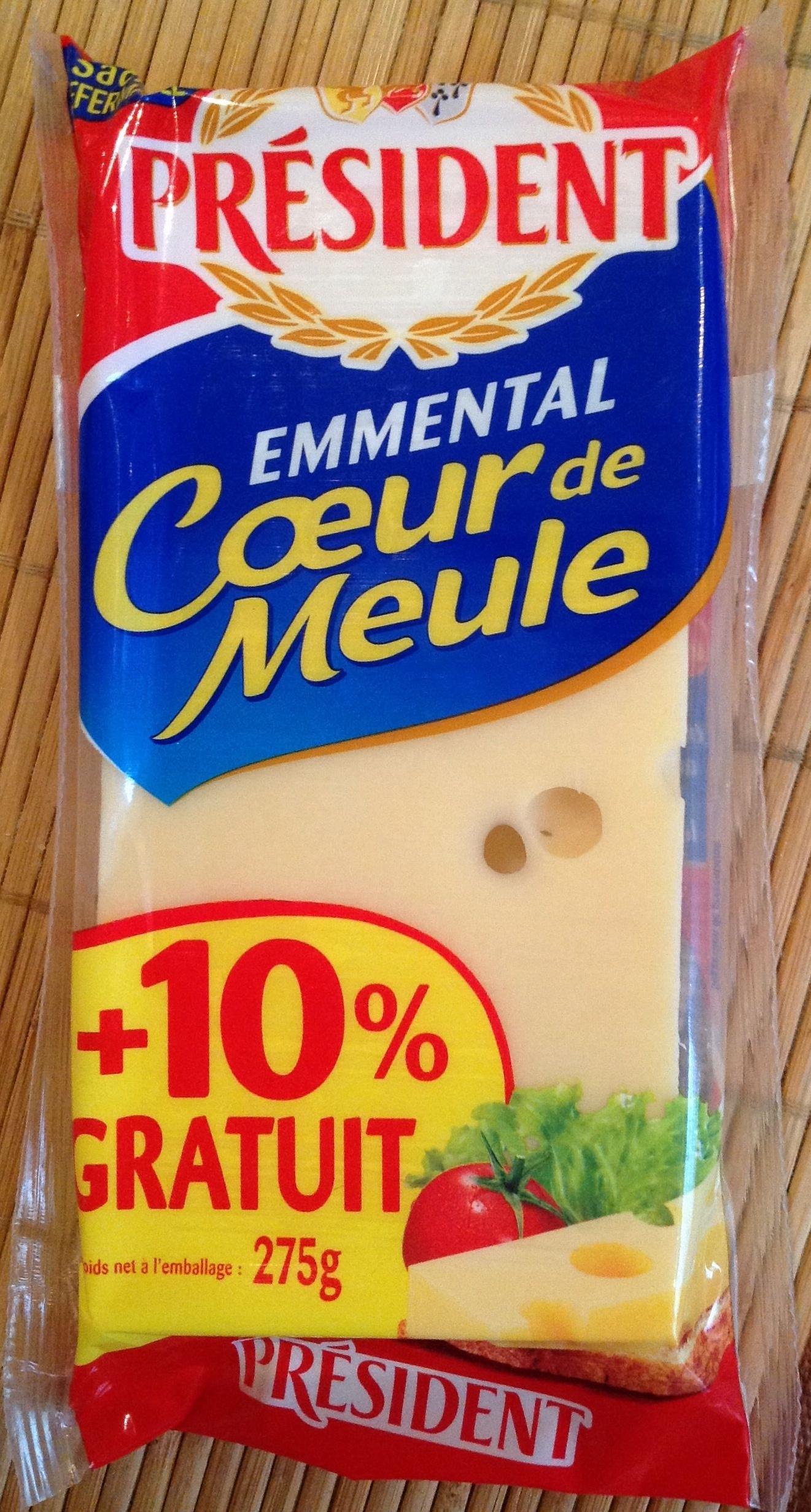 Emmental Coeur de Meule (28 % MG) + 10 % Gratuit - Produit - fr